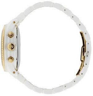美國Outlet正品代購 MichaelKors MK 金色陶瓷 水鑽 三環 手錶 腕錶 MK5237 4