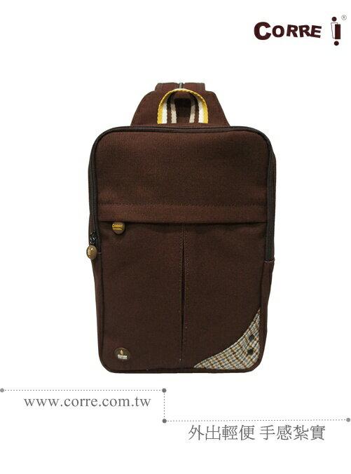 CORRE【CG71070】帆布毛革兩用後背包 共四色 紅/藍/橘/咖啡 3