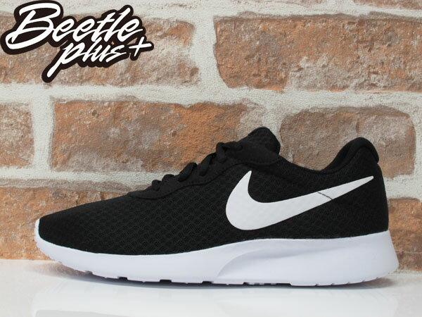 男生 BEETLE NIKE TANJUN 輕量 網布 透氣 黑白 經典 白勾 休閒 慢跑鞋 812654-011 0