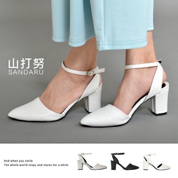瑪莉珍跟鞋 尖頭繞帶高跟包鞋- 山打努SANDARU【03G321#46】