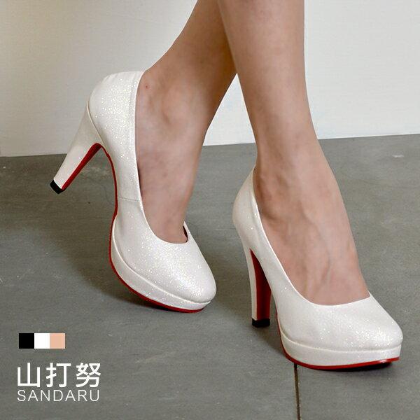 高跟鞋 霧面亮粉紅底高跟鞋- 山打努SANDARU【107A2616、1072616#46】