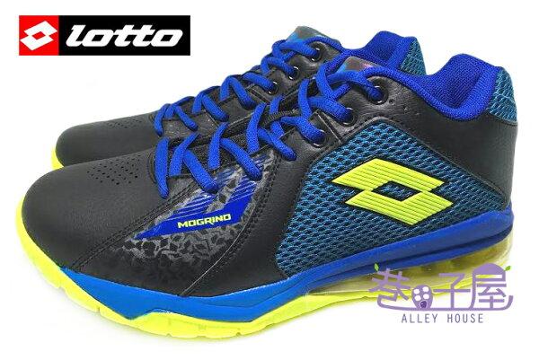 【巷子屋】義大利第一品牌-LOTTO 頂尖對決-男款刀鋒戶外加長氣墊籃球鞋 [3250] 黑藍 超值價$690