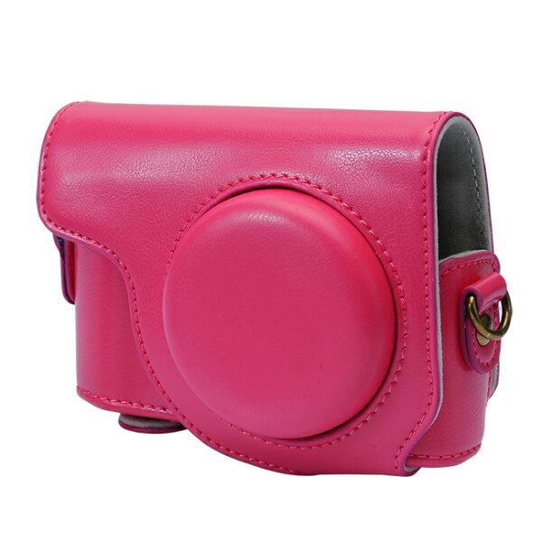 【和信嘉】CASIO ZR3600 ZR3500 可拆式相機皮套 (桃紅色) Kamera 相機包