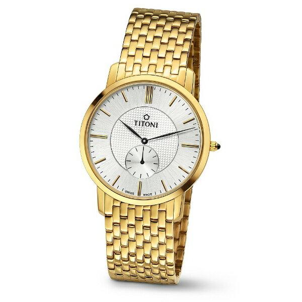TITONI瑞士梅花錶TQ52917G-380 Slenderline系列纖薄時尚腕錶/白面38mm
