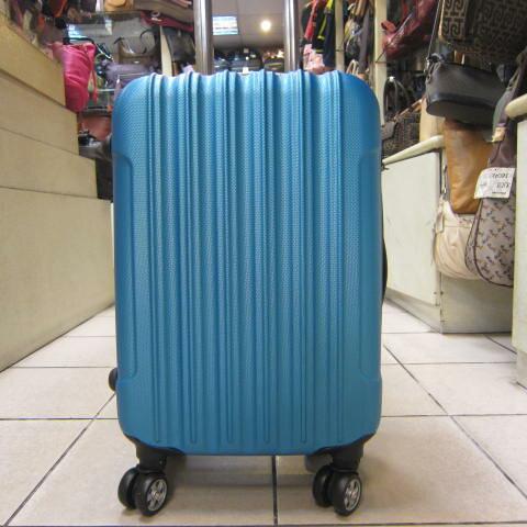 ~雪黛屋~Debaoli 中小一組旅行箱P.C防水防刮硬殼箱八輪360度旋轉鋁合金多段拉桿 DB168 金屬藍