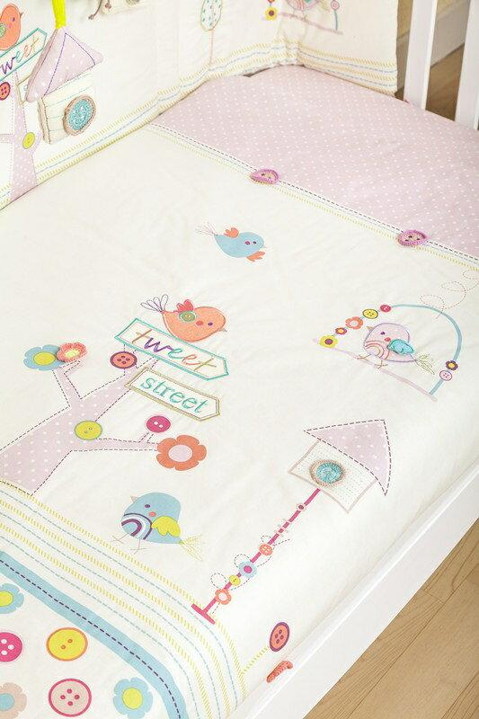 【La Joie喬依思】鳥語花香5件套純綿 嬰兒寢俱組 3
