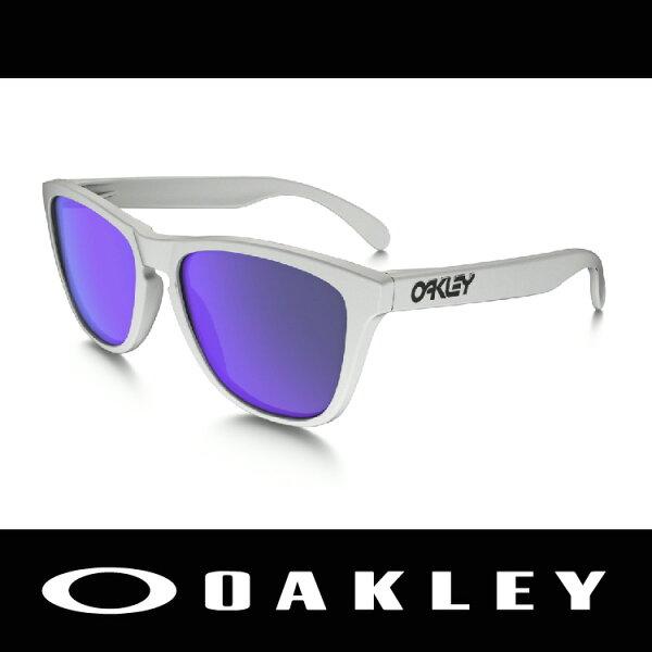 萬特戶外運動-美國 OAKLEY 太陽眼鏡 FROGSKIN系列 白色 消光 霧面鏡框 休閒款 9245-17