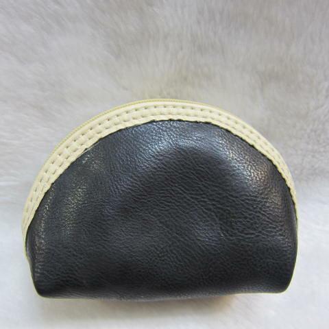 ~雪黛屋~ sandia-polo 零錢包一組三個大中小多功能使用防水尼龍布材質+進口皮革70-SA556-01 黑