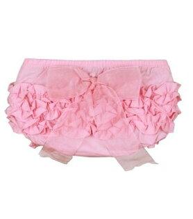 ★啦啦看世界★ Rufflebutts 粉紅立體蝴蝶結屁屁褲 尿布褲 小短褲 嬰兒彌月禮 出生