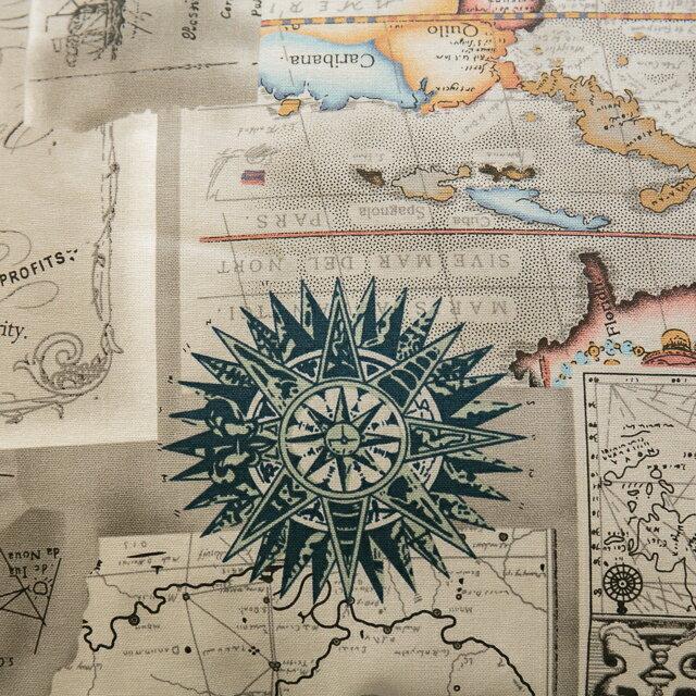 世界地圖抱枕  45cmx45cm 精選素材 復古 純棉 1