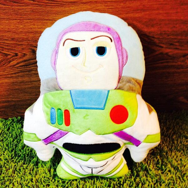 【真愛日本】16041800016人型抱枕-巴斯光年   迪士尼 玩具總動員 TOY 抱枕 靠枕 居家用品