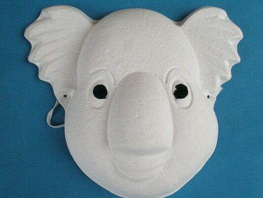 無尾熊面具 空白面具 DIY面具 彩繪面具 紙面具/一個入{定40}~303968~