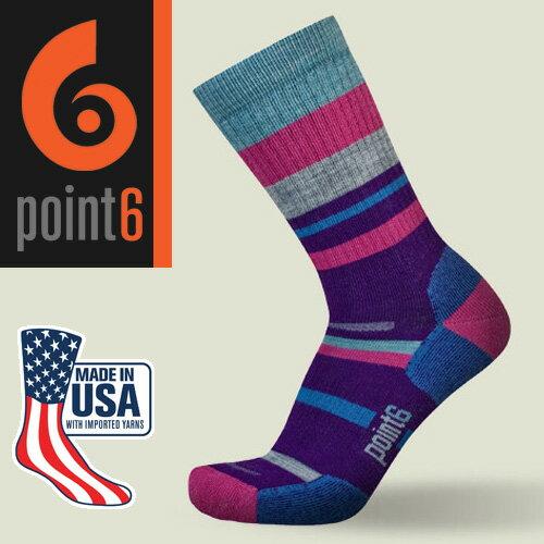 【鄉野情戶外專業】Point6 美國  mixed stripe medium 中筒羊毛襪/美麗諾羊毛襪 運動襪 登山襪 戶外襪/1567
