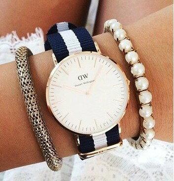 瑞典正品代購 Daniel Wellington 0503DW 玫瑰金 尼龍 帆布錶帶 女錶手錶腕錶 36MM 2