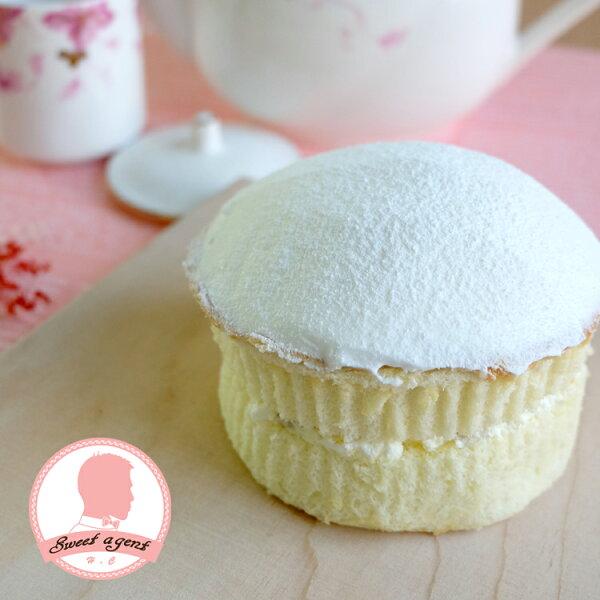 【甜點特務】[ 蘑菇波士頓派 ] 什錦水果餡+鬆軟海綿蛋糕+清新鮮奶油