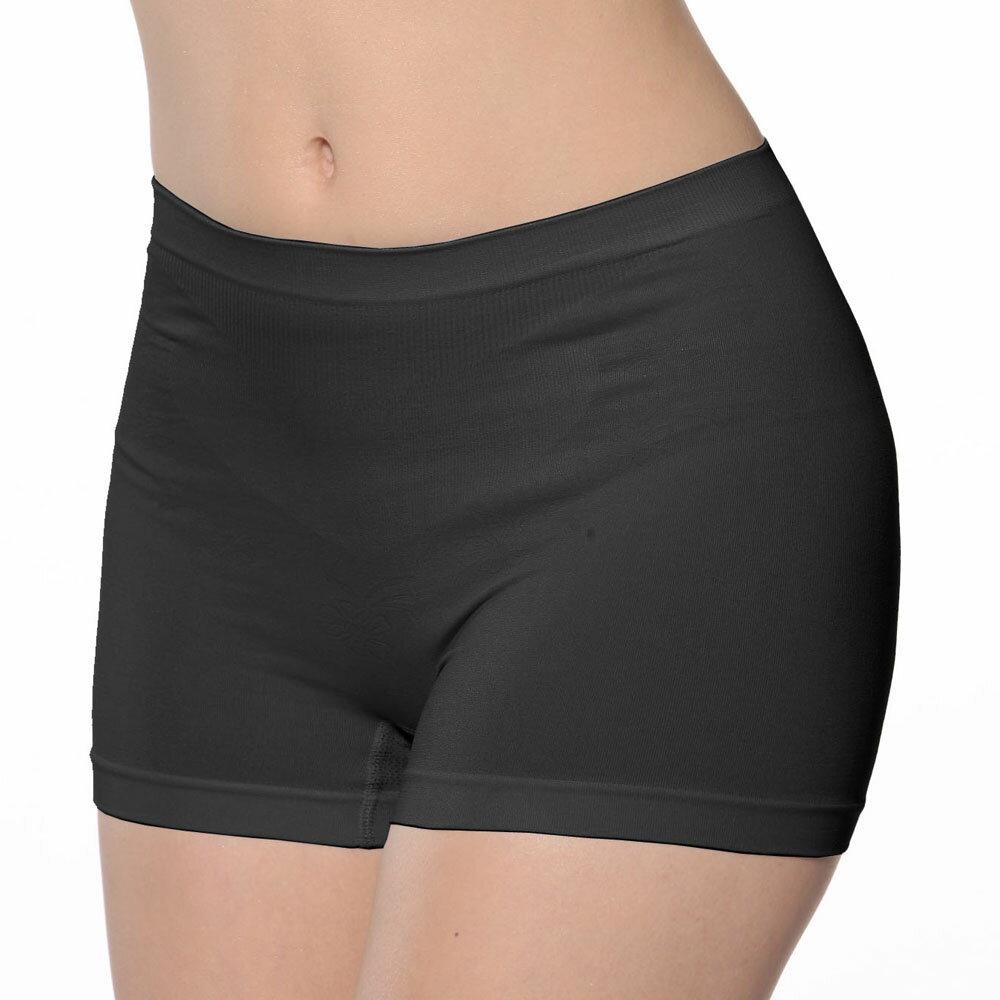 【Emon】《竹炭.無縫》一體成型中高腰平口褲《可當安全褲》 3