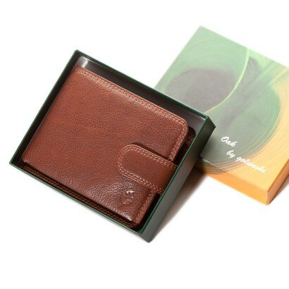 Golunski Oak Flap Over Leather Wallet (tan) 0