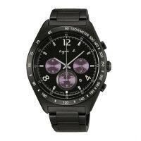 agnès b.到agnes b 7T12-0AP0T(BW8004P1)法式時尚風計時腕錶/黑面42mm