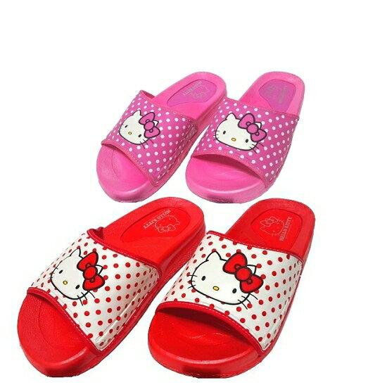 【晨光】台灣製Hello Kitty厚底拖鞋(紅、桃色)(915077) 【現貨】