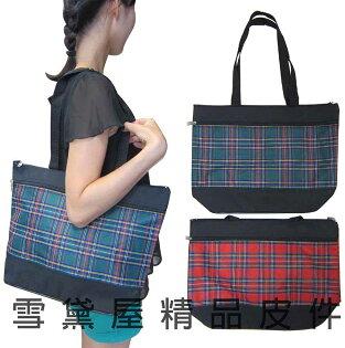 ~雪黛屋~Lian 手提肩背購物袋才藝袋手提簡單袋上學書包以外放置教具雨衣雨傘便當台灣製造品質保證可A4資夾#2867
