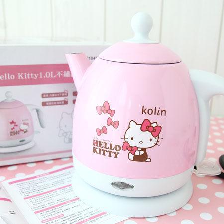 獨家限量版 Kolin歌林 KITTY 不鏽鋼快煮壺 (1L) 凱蒂貓 KPK-MNR1041 三麗鷗【N100440】