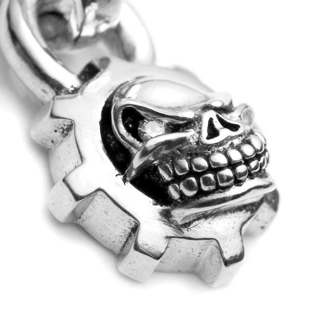 【海外訂購】【STARLINGEAR】經典齒輪骷髏純銀墜飾-鑲鑽款(STP022-D  0253850000) 1