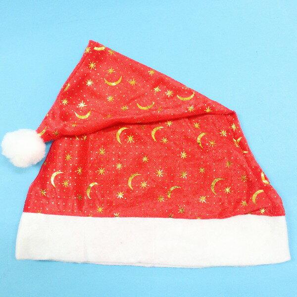 聖誕帽 烙印金圖.銀圖聖誕帽 耶誕帽(燙金銀圖.絨布面)/一個入{促40}
