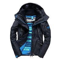 Superdry極度乾燥商品推薦美國百分百【Superdry】極度乾燥 Attacker 風衣 連帽 外套 防風 夾克 刷毛 藍灰 藍色 S M L號 F966