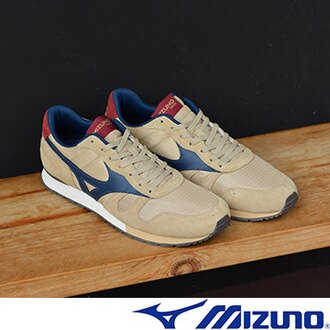 MIZUNO美津濃 復古系列 男休閒款慢跑鞋 卡其藍 0