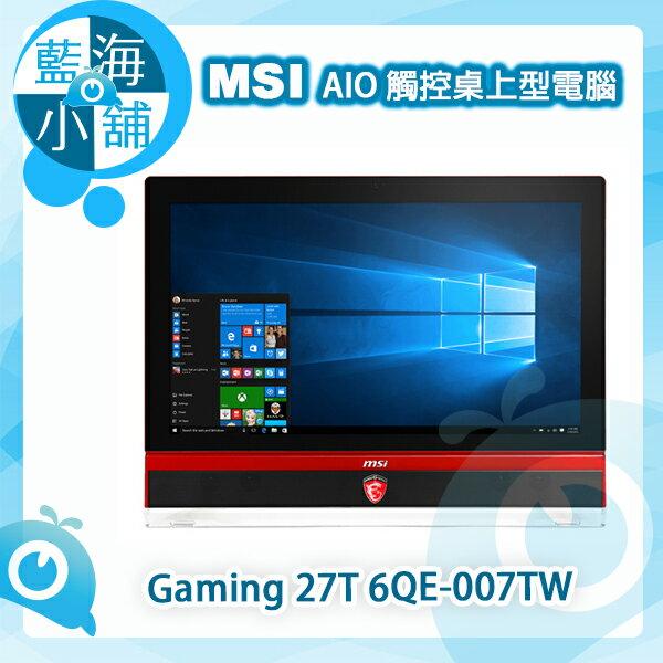 MSI 微星  Gaming 27T 6QE-007TW 27吋 AIO 觸控電競桌上型電腦