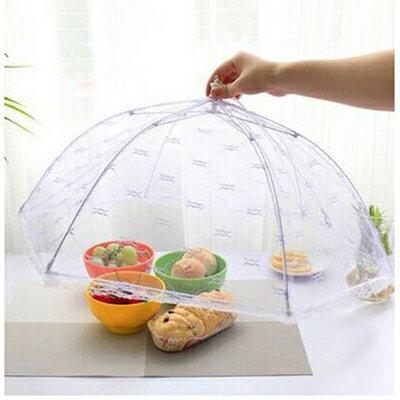 廚房創意傘式餐桌防蚊摺疊罩 隨機出貨【省錢博士】39元