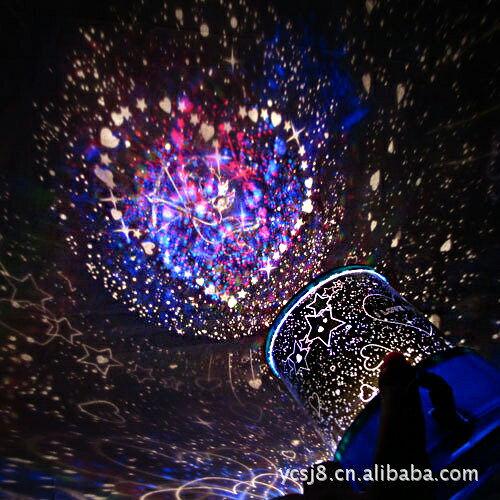 自動旋轉星空戀人/投影儀帶音樂星空燈/隨機款【省錢博士】