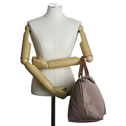 [1623-M號]國外Outlet代購正品 法國巴黎 Longchamp  短柄 購物袋防水尼龍手提肩背水餃包 香檳金 3
