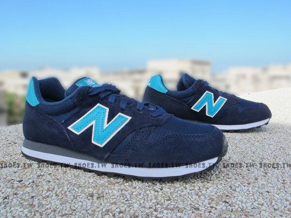 [25.5cm]《超值6折》Shoestw【WL373SNG】NEW BALANCE 復古慢跑鞋 麂皮 深藍 水藍 女生