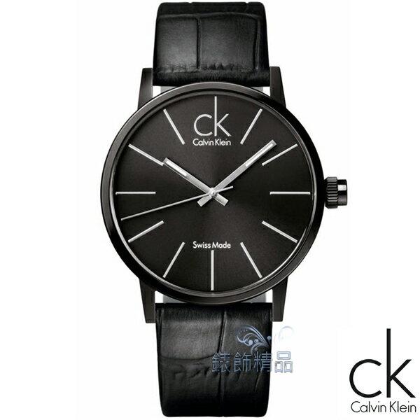 【錶飾精品】CK Calvin Klein凱文克萊 時尚簡約 夾層玻璃 時尚IP黑面黑皮帶 K7621401 原廠正品