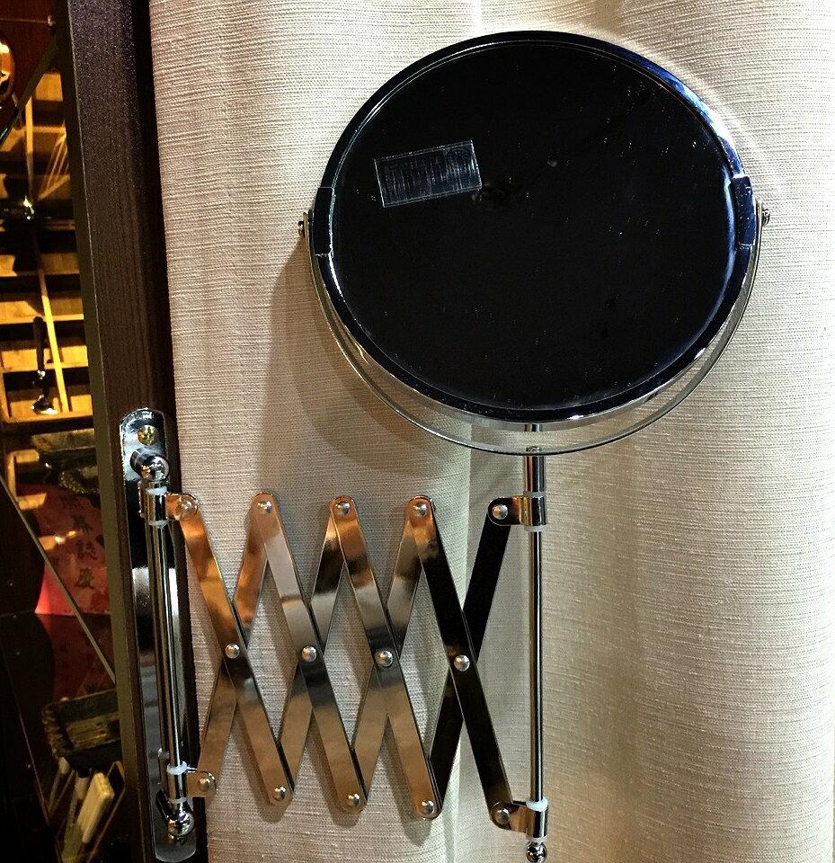 【日本-DULTON】圓型伸縮雙面掛鏡-安裝簡易、美觀大方,擁有雙面鏡,一為等倍鏡,另一為3倍鏡,鏡面可360度旋轉,掛軸可180度轉動,收納方便,無論安裝於浴廁、玄關或化妝檯,皆能有不一樣的風味 0