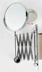 【日本-DULTON】圓型伸縮雙面掛鏡-安裝簡易、美觀大方,擁有雙面鏡,一為等倍鏡,另一為3倍鏡,鏡面可360度旋轉,掛軸可180度轉動,收納方便,無論安裝於浴廁、玄關或化妝檯,皆能有不一樣的風味 2