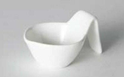 【日本-DULTON】勺型陶瓷調味皿(一組四入)-獨特的勺型設計,既像勺子又像杯子,適合放調味料、小菜、簡單沙拉的裝盤 2