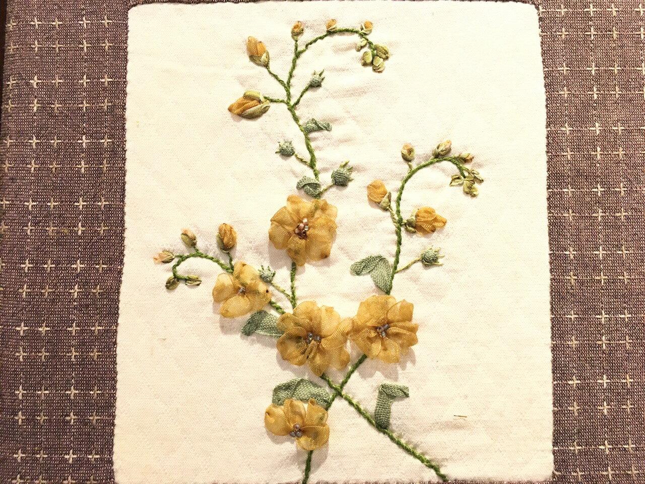 DIY手作-緞帶刺繡材料包(蜻蜓與花) 5