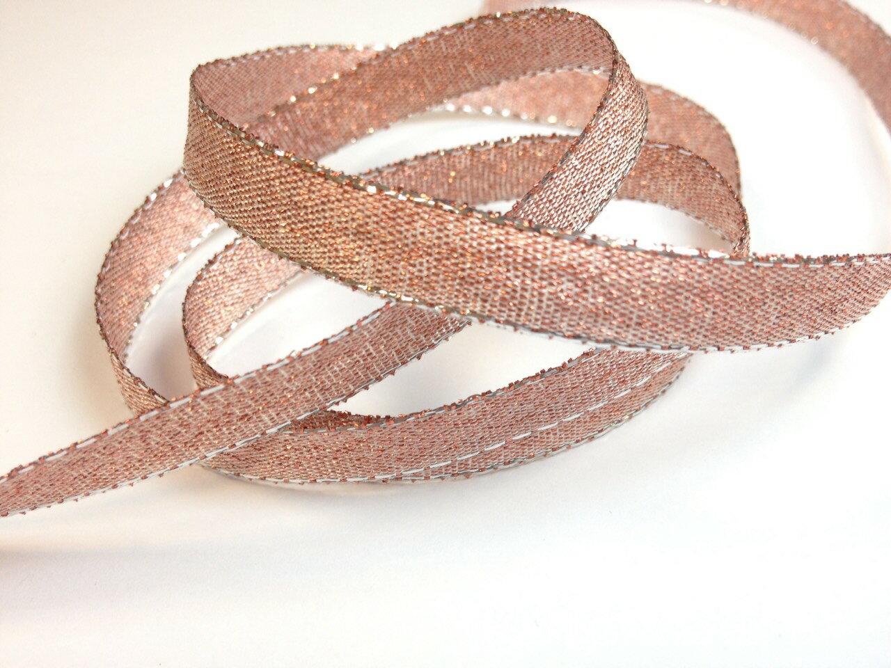 彩色金蔥鐵絲緞帶3mm、6mm、10mm 3碼 (10色) 2