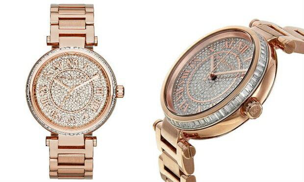 美國Outlet正品代購 MichaelKors MK 復古羅馬數字玫瑰金水鑽  陶瓷  三環 手錶 腕錶 MK5868 2