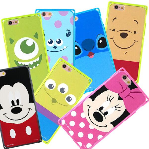 【Disney】 iPhone 6 / 6s專業耐衝擊aprolink雙料保護殼-大臉系列