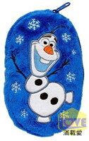 ♥滿載愛♥日本-Frozen 冰雪奇緣-雪寶雙面收納袋/萬用綿綿袋(藍)