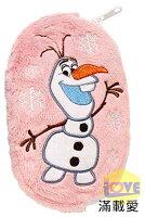 ♥滿載愛♥日本-Frozen 冰雪奇緣-雪寶雙面收納袋/萬用綿綿袋(粉)