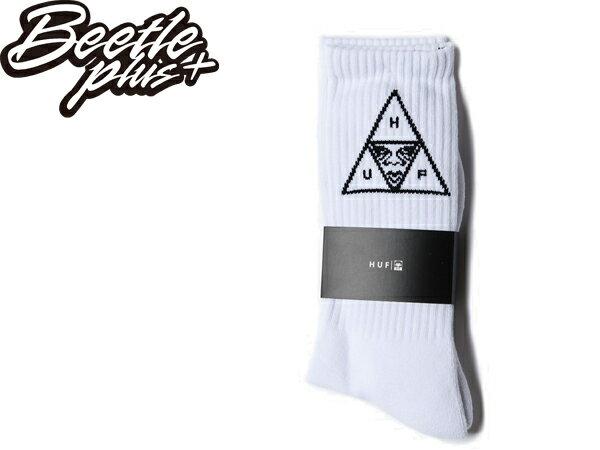 BEETLE PLUS 西門町經銷 全新 美國品牌 HUF X OBEY SOCK WHITE 人臉 LOGO 黑白 滑板 中長筒襪 100260083WHT OB-379 - 限時優惠好康折扣