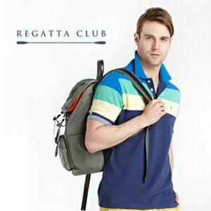 REGATTA CLUB 【男】防潑水尼龍休閒後背包