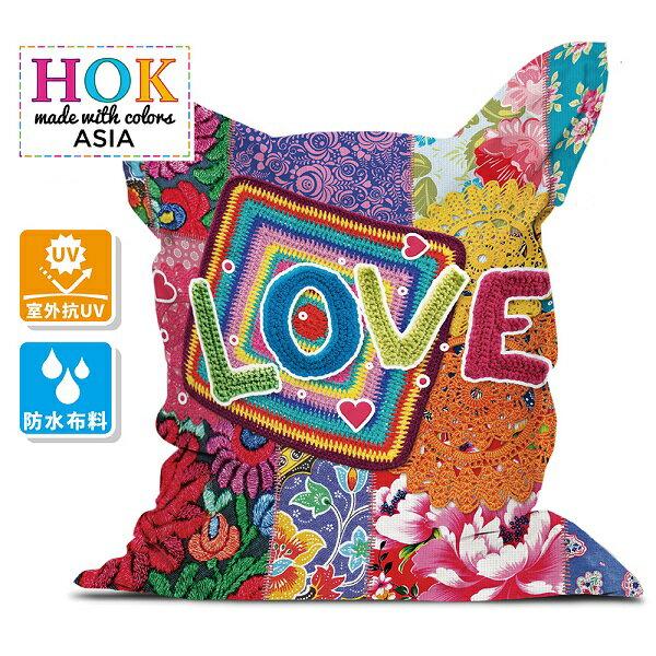 比利時【HOK】愛與和平2 in 1 懶骨頭沙發 0