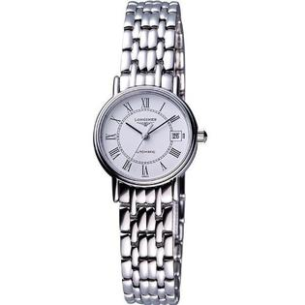 LONGINES L43214116經典羅馬腕錶/白面25.5mm