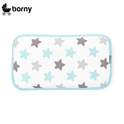 韓國【 Borny 】 3D立體酷涼透氣幼兒枕 (蜜糖藍)(6個月~12歲皆適用) 0