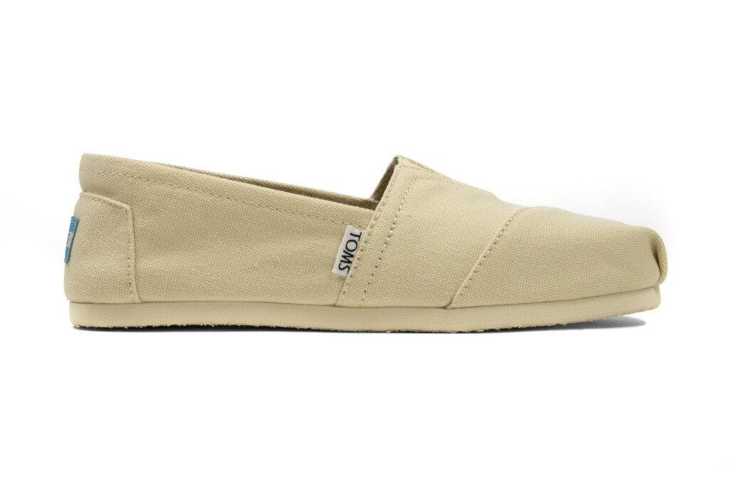 【TOMS】米色素面基本款休閒鞋  Natural Canvas Women's Classics 2